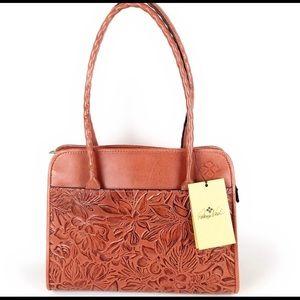 Patricia Nash Lg Paris Tooled Dusty Rose Tote Bag